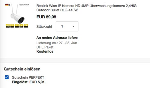 Reolink 4MP WLAN-Überwachungskamera RLC-410W, 2,4/5G - jetzt 10% billiger