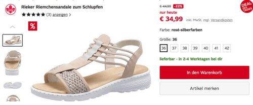 Rieker Damen Riemchensandale zum Schlupfen (36-42) - jetzt 20% billiger
