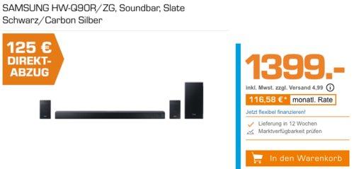 SAMSUNG HW-Q90R/ZG 7.1.4 Soundbar, 510 Watt (RMS) - jetzt 9% billiger