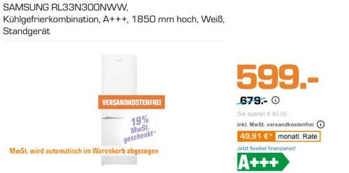 SAMSUNG RL33N300NWW Kühlgefrierkombination 185 cm hoch, A+++ - jetzt 16% billiger