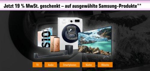 Saturn - 19% Mehrwertsteuer Geschenk auf ausgewählte Samsung-Produkte: z.B. SAMSUNG HW-R 530/ZG Soundbar - jetzt 16% billiger