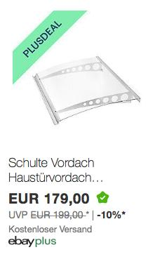 Schulte Pultvordach 160 x 90 cm, Polycarbonat/Edelstahl V2a - jetzt 10% billiger