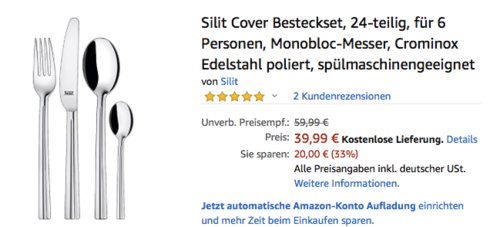 "Silit Besteckset ""Cover"", 24-teilig - jetzt 32% billiger"