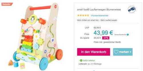 """small foot® Holz-Lauflernwagen """"Blumenwiese"""" - jetzt 11% billiger"""