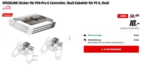SPEEDLINK Skull Sticker für PS4 Pro & Controller - jetzt 50% billiger