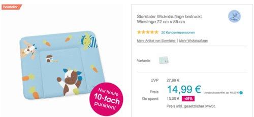 """Sterntaler Wickelauflage """"Wieslinge"""" oder """"Waldis"""" , 72 cm x 85 cm - jetzt 20% billiger"""