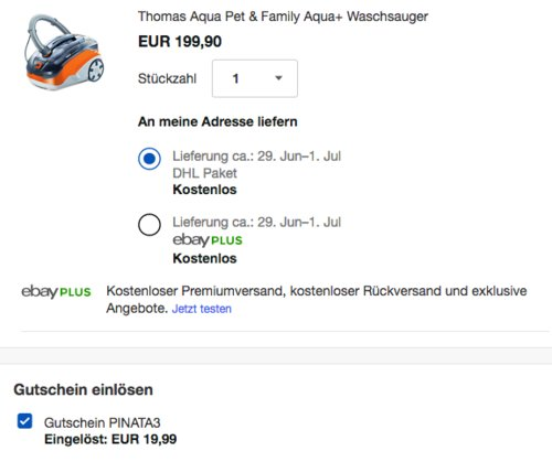 Thomas Aqua Pet & Family Aqua+ Staub- und Waschsauger, Beutellos - jetzt 15% billiger