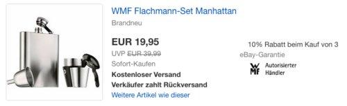 """WMF Flachmann-Set """"Manhattan"""", 200 ml - jetzt 33% billiger"""