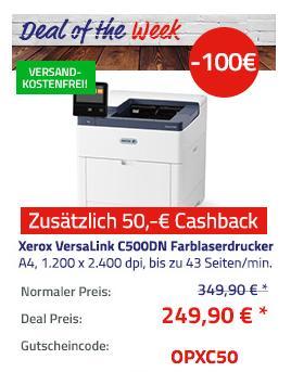 Xerox VersaLink C500DN Farblaserdrucker, A4 - jetzt 29% billiger