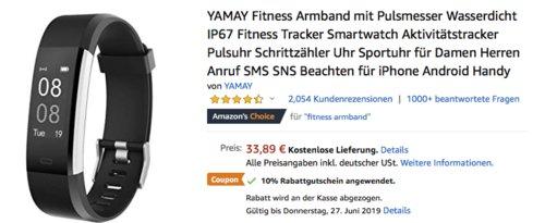 YAMAY SW-333 Fitness Tracker mit Pulsmesser, versch. Farben - jetzt 10% billiger