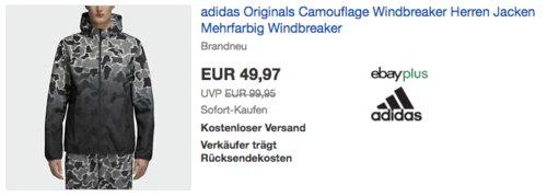 adidas Originals Camouflage Herren Windbreaker (XS-XL) - jetzt 27% billiger