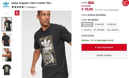 "adidas Originals Herren T-Shirt ""CAMO TEE"" (XS-XXL), schwarz-tarnfarben - jetzt 9% billiger"