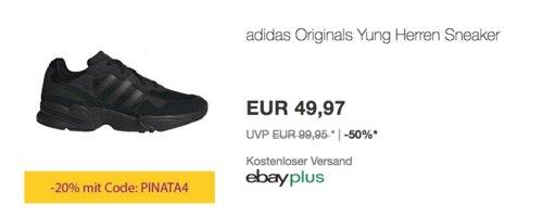 adidas Originals Yung96 Herren Sneaker, schwarz (40,5-46,5) - jetzt 20% billiger