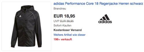 adidas Performance Core 18 Herren Regenjacke (XS-2XL), schwarz - jetzt 15% billiger