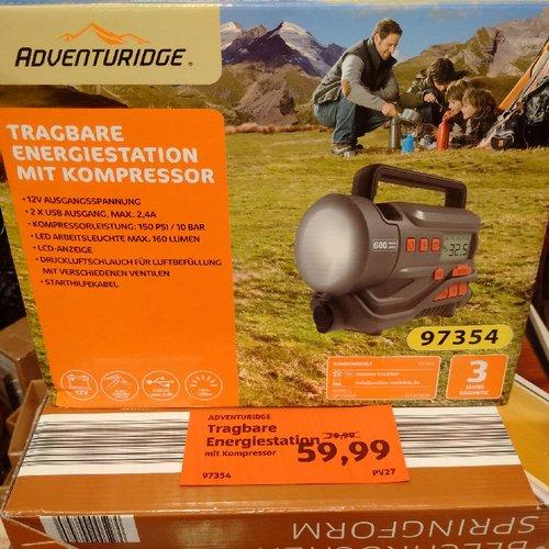 ADVENTURIDGE® Tragbare Energiestation mit Kompressor - jetzt 25% billiger