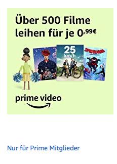 Amazon Prime Video: über 500 Filme für je 0,99€ zum Ausleihen - jetzt 67% billiger