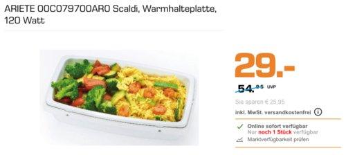 ARIETE 00C079700AR0 Scaldì elektrische Warmhalteplatte Orange , 120 Watt - jetzt 24% billiger