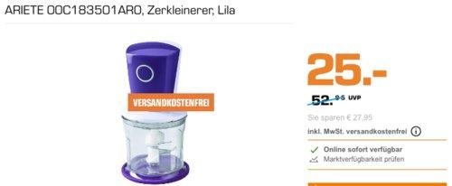 ARIETE Choppi 00C183501AR0 Zerkleinerer mit Icecrush-Funktion, lila - jetzt 46% billiger