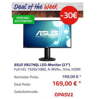 "ASUS VN279QL (27"") 68,6 cm LED-Monitor (Full HD, 5ms, Lautsprecher) - jetzt 15% billiger"