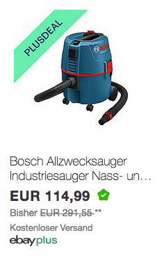 Bosch Professional GAS 20 L SFC Nass-/Trockensauger - jetzt 10% billiger