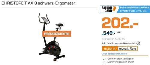 Christopeit AX 3 Heimtrainer/Ergometer, schwarz - jetzt 12% billiger