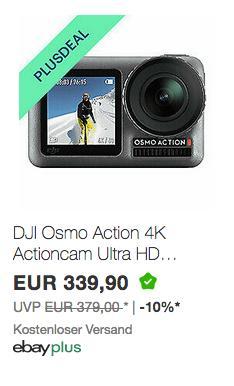 DJI Osmo Action 4K Actioncam mit 2 Bildschirmen (12MP, F2.8, 145° Winkelobjektiv, wasserdicht) - jetzt 10% billiger