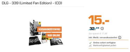 DLG - 339 (Limited Fan Edition) - (CD), inkl. T-Shirt, DVD u.v. m. - jetzt 55% billiger