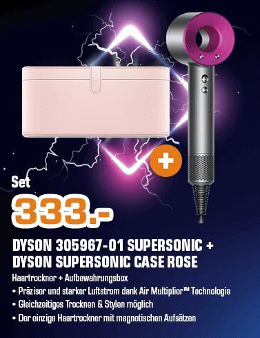 DYSON 305967-01 Supersonic Haartrockner in Anthrazit/Fuchsia inkl.DYSON Supersonic Aufbewahrungsbox inRosa - jetzt 13% billiger