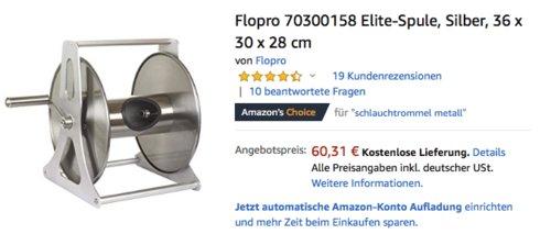 Flopro 70300158 Elite-Spule/Schlauchtromel, bis zu 40Meter - jetzt 29% billiger
