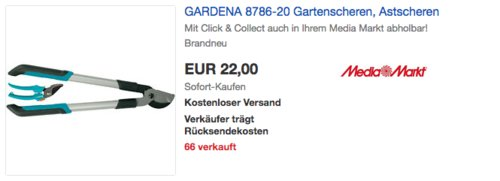 GARDENA 610 B Astschere inkl. Classic Gartenschere - jetzt 24% billiger
