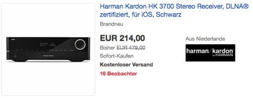 Harman Kardon HK 3700 2-Kanal Stereo-Receiver mit 170 Watt Leistung, schwarz - jetzt 28% billiger