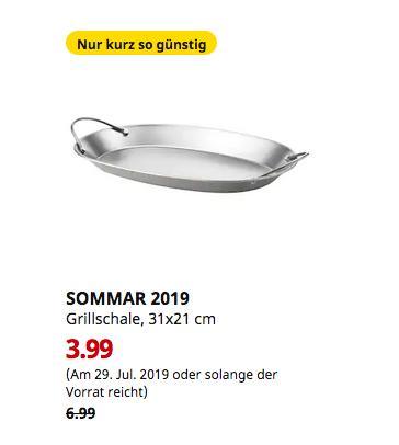 IKEA Augsburg - SOMMAR 2019 Grillschale, Edelstahl, 31x21 cm - jetzt 43% billiger
