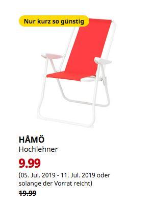 IKEA Berlin-Spandau - HAMÖ Hochlehner, rot - jetzt 50% billiger