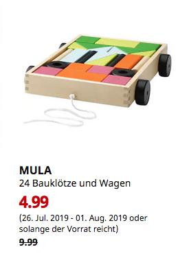 IKEA Berlin-Tempelhof - MULA 24 Bauklötze und Wagen - jetzt 50% billiger