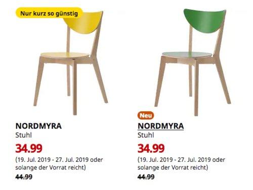 IKEA Berlin-Tempelhof - NORDMYRA Stuhl, gelb odergrün - jetzt 22% billiger
