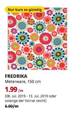 IKEA Bremerhaven - FREDRIKA Meterware, bunt, 150 cm - jetzt 67% billiger