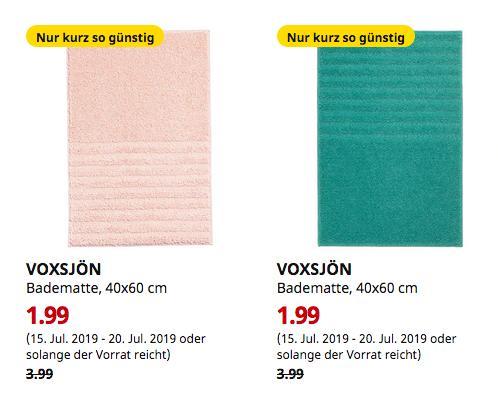 IKEA Bremerhaven - VOXSJÖN Badematte, 40x60 cm,türkis oderblassrosa - jetzt 50% billiger