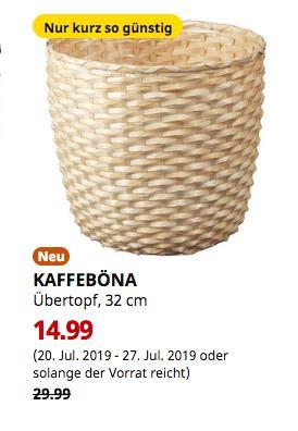 IKEA Brinkum - KAFFEBÖNA Übertopf, Bambus, 32 cm - jetzt 50% billiger