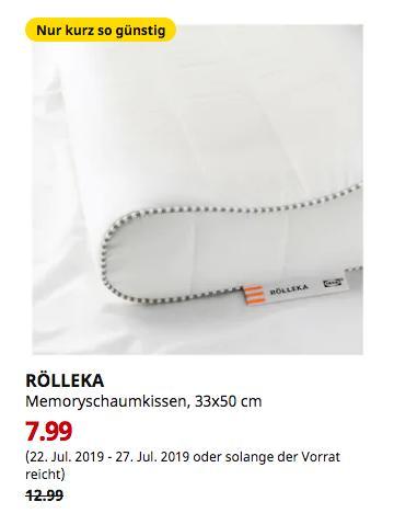 IKEA Dresden - RÖLLEKA Memoryschaumkissen, 33x50 cm - jetzt 38% billiger