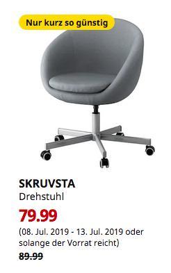 IKEA Dresden - SKRUVSTA Drehstuhl, Vissle grau - jetzt 11% billiger