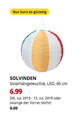 IKEA Duisburg - SOLVINDEN Solarhängeleuchte, LED, für draußen, rund bunt, 45 cm - jetzt 30% billiger
