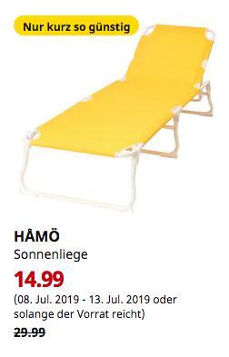 IKEA Essen - HAMÖ Sonnenliege, gelb - jetzt 50% billiger