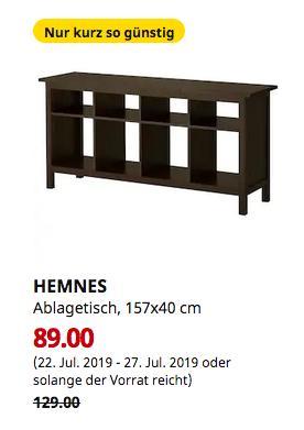 IKEA Großburgwedel - HEMNES Ablagetisch, schwarzbraun, 157x40 cm - jetzt 31% billiger