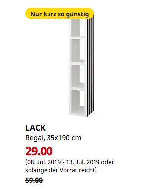 IKEA Großburgwedel - LACK Regal, schwarz/weiß, 35x190 cm - jetzt 51% billiger