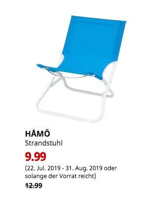 IKEA Halle/Leipzig - HÅMÖ Strandstuhl, blau - jetzt 23% billiger