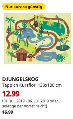 IKEA Hamburg-Schnelsen - DJUNGELSKOG Teppich Kurzflor, Dschungel, Bäume, 133x100 cm - jetzt 24% billiger