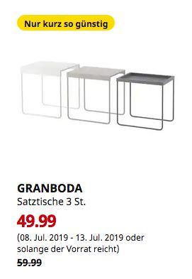 IKEA Hamburg-Schnelsen - GRANBODA Satztische 3 St. - jetzt 17% billiger