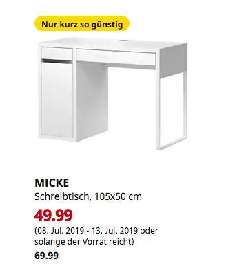 IKEA Hanau - MICKE Schreibtisch, weiß, 105x50 cm - jetzt 29% billiger