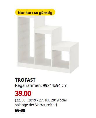 IKEA Köln-Am Butzweilerhof - TROFAST Regalrahmen, weiß, 99x44x94 cm - jetzt 34% billiger