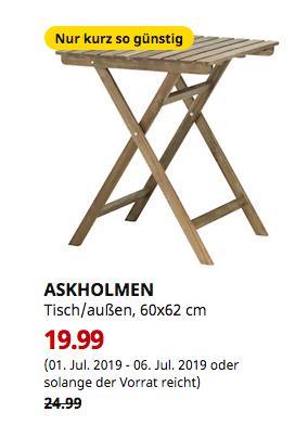 IKEA Köln-Godorf - ASKHOLMEN Tisch/außen,faltbar,60x62 cm - jetzt 20% billiger
